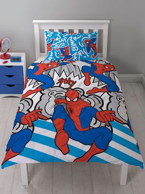 Spiderman Popart Single Duvet Cover and Pillowcase Set