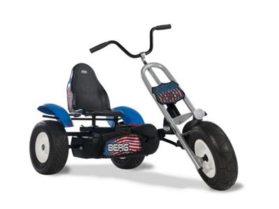 Chopper Pedal Go Kart - Blue Off Road Go Kart with Bike Handlebars - BERG Route