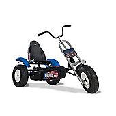 Chopper Pedal Go Kart - Blue Off Road Go Kart with Bike Handlebars - BERG Route