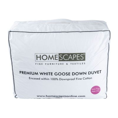 Premium White Goose Down 10.5 Tog Super King Size Autumn Duvet