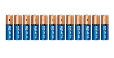 12 x Duracell AA Ultra Power Alkaline Batteries LR6 MX1500 MN1500 with Powercheck