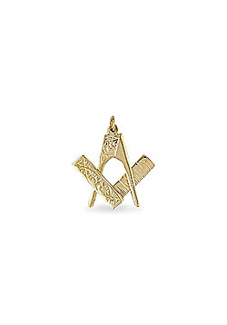 Jewelco London 9ct Solid Gold & assembled Masonic Pendant with opening & closing mechanism