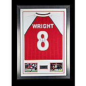 Hand Signed Ian Wright Framed Shirt Arsenal FC - Legend - COA & Proof