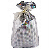 Large GiftMate Silver Hologram Gift Bag