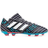 adidas Nemeziz Messi 17.3 Firm Ground Mens Football Boot Grey Cold Blooded - Grey
