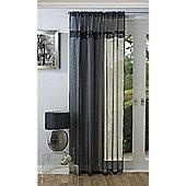 "Savannah Tassel Trim Voile Panel, Black 48""/120cm"