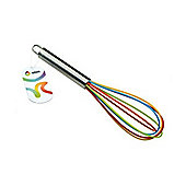 Apollo Splash 25cm New Colourful Rainbow Silicone Whisk
