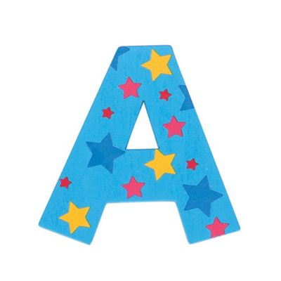 Bigjigs Toys Star Letter A (Blue)