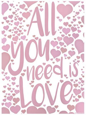 All You Need Is Love Mini Poster 32x44cm