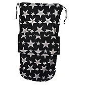 Snuggle Footmuff To Fit Uppababy Black/Grey Star