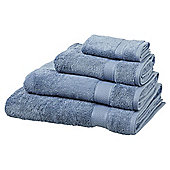 Egyptian Cotton Chambray Blue Bath Towel