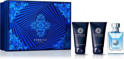 Versace Pour Homme Gift Set 50ml EDT + 50ml Perfumed Shampoo + 50ml Perfumed Shower Gel For Men