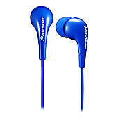 Pioneer SECL502 Fully-Enclosed Dynamic In-Ear Headphones in Blue