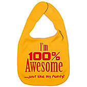 Dirty Fingers I'm 100% awesome just like my Aunty Bib Yellow