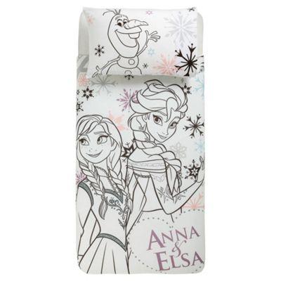 Disney Frozen Anna and Elsa Duvet Cover Set Multicoloured, Single TESCO EXCLUSIVE