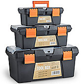 "VonHaus Tool Box Storage Set of 3 Organiser Trays 10"" 13"" 16"""