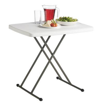 VonHaus 2.5ft (0.77m) Adjustable Height Folding Trestle Table For  Picnic/Garden