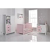 Obaby Stamford Cot Bed 4 Piece Sprung Mattress Nursery Room Set - Eton Mess Cotbed, Eton Mess Drawers