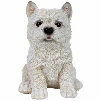 Realistic West Highland Terrier Westie Puppy Dog Ornament