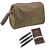 Nicholas Winter Men's Overnight Travel Wash Bag & FREE 3 Piece Tweezer Grooming Set