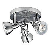 Unique Industrial Designed Satin Chrome Ceiling Spot Light