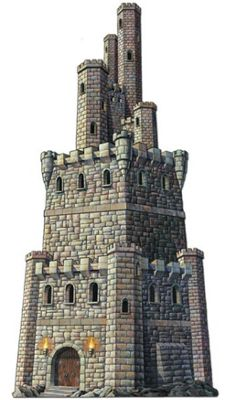 Jointed Castle Tower Cutout 4ft