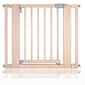 Safetots Chunky Wooden Pressure Fit Stair Gate Natural 89cm-97cm