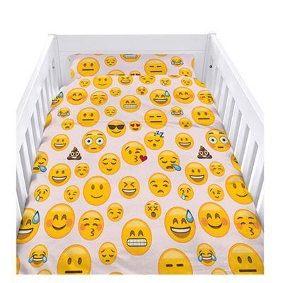 Emoji Girl Cot Duvet Cover Set with Pillowcase