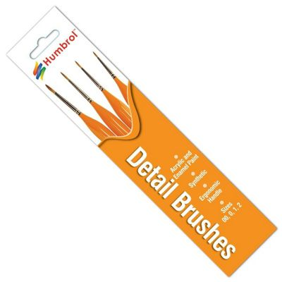 Humbrol Detail Brush Pack - Triangle Handle - 00 0 1 2