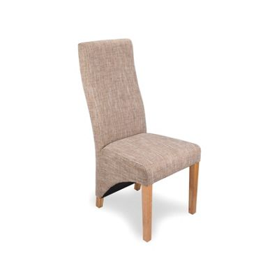 Pair of Baxter Tweed Dining Chairs - Natural