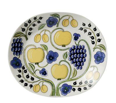 Finland Arabia Paratiisi Oval Platter 22cm by 25cm