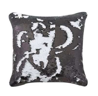 Black & white Two Tone Sequin Siren Cushion
