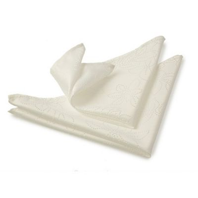 Blue Canyon Rosetta Napkin Set - Ivory