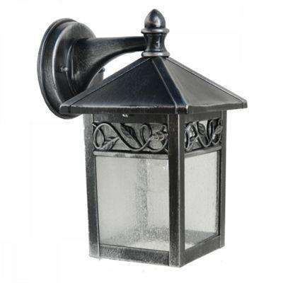 Black /Silver Wall Lantern - 1 x 60W E27