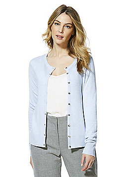 F&F Button-Through Cardigan with As New Technology - Blue