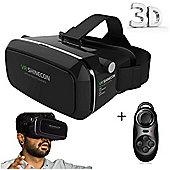 Shinecon VR Box Virtual Reality Headset & Remote Control Black