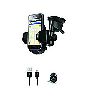 iLuv iCC796BLK Universal Mobile Windshield Mount Kit