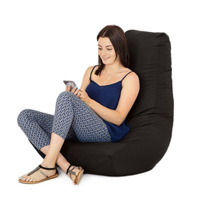 Black Water Resistant Bean Bag Gaming Chair