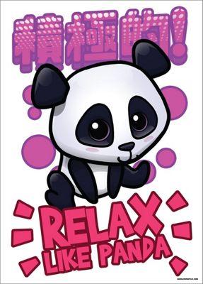 Handa Panda Relax Like Panda Mini Poster 32 x 44cm