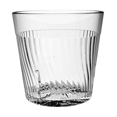 Clarity 8 oz Belize Rock Glass - Clear (8 Pack)