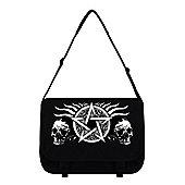 Skull Pentagram Black Messenger Bag 38x33x11cm