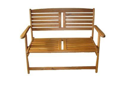 Mir Atlantic Acacia Folding Bench 2 Seater
