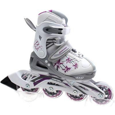 Rollerblade Bladerunner Phaser G Girls Recreational Inline Skate - White/Purple Stars - Small JNR 10-13