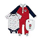 England RFU Rugby Baby 3 Piece Gift Set - Multi