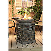 Slate effect Gas Fire Pit and Fire Bowl