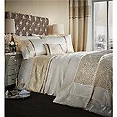 Catherine Lansfield Luxor Jacquard Bedspread - Gold