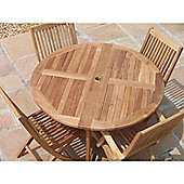 Teak 4 Seater large Round Folding Set
