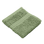Homescapes Fern Green Luxury Face Cloth 500 GSM 100% Egyptian Cotton, 30 x 30 cm