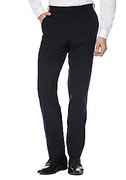 F&F Slim Fit Suit Trousers - Navy