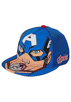 Marvel The Avengers Captain America Flat Peak Cap - Blue